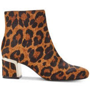 New DKNY Leopard Print Corrie Ankle Boots